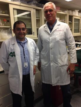 2016 Hartwell Fellow John R. Grothusen, Ph.D. (R) and mentor Shadi N. Malaeb, MD, Drexel University