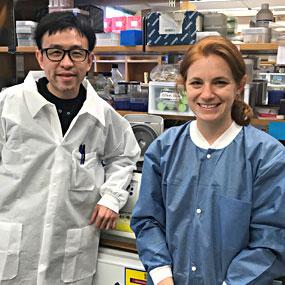 2017 Hartwell Fellow Sydney M. Shaffer, MD, Ph.D and mentor Junwei Shi, Ph.D., University of Pennsylvania