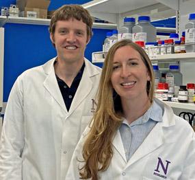 2019 Hartwell Fellow Sarah Quillin, Ph.D. and mentor Arthur Prindle, PhD., Northwestern University